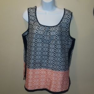 Perseption Concept large geo tank blouse